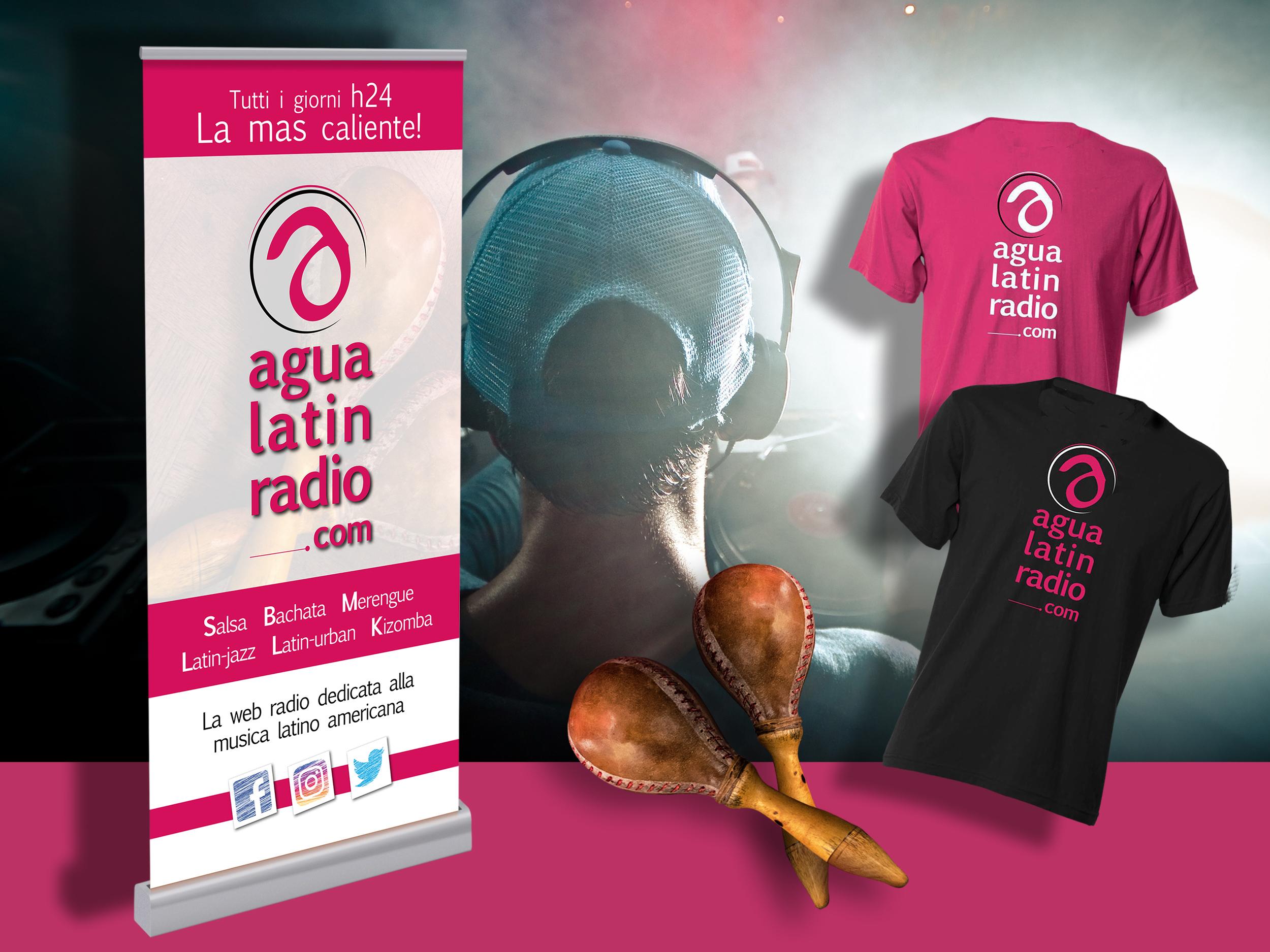 Immagine coordinata Agua Latin Radio