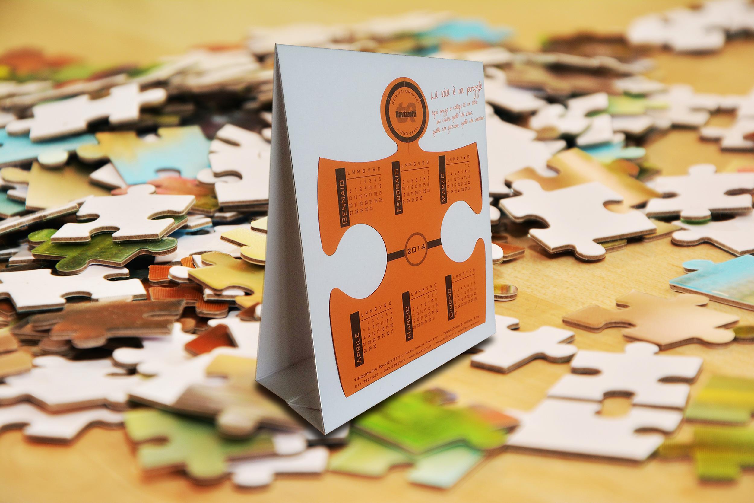 Calendario puzzle Ravizzotti