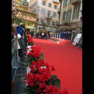 Il tappeto rosso davanti all'Ariston